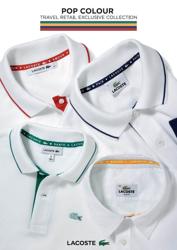 Lacoste goes POP for travellers