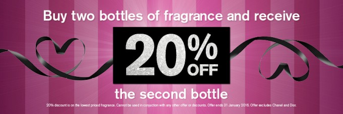 SAVE: 20% off fragrances at Aelia Duty Free Auckland