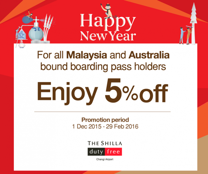 SAVE: 5% off at Shilla Duty Free Singapore