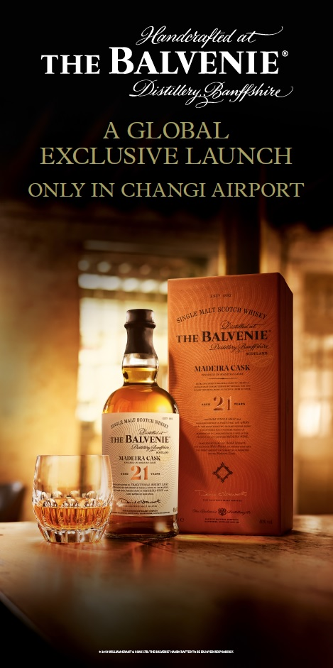 The Balvenie 21 YO Madeira Cask makes exclusive debut at DFS in Singapore Changi