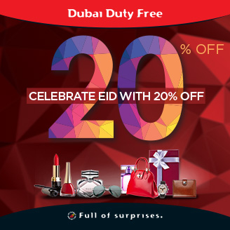 Dubai Duty Free launch 20% off Eid promotion