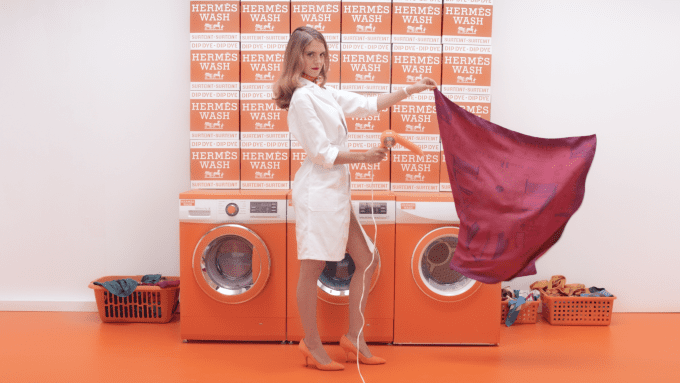 Hermès launches luxury laundromat for silk scarves