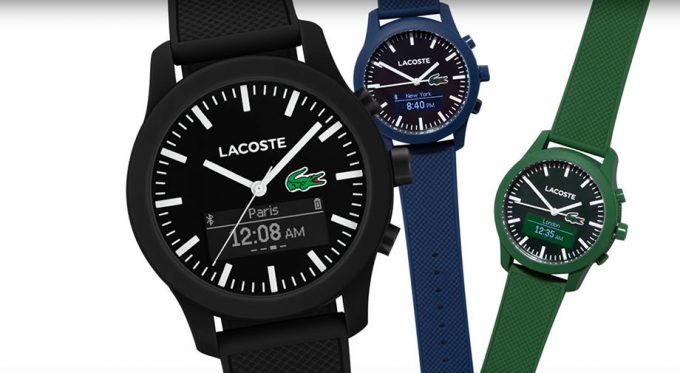 Lacoste Polo shirt style turns up in a smartwatch