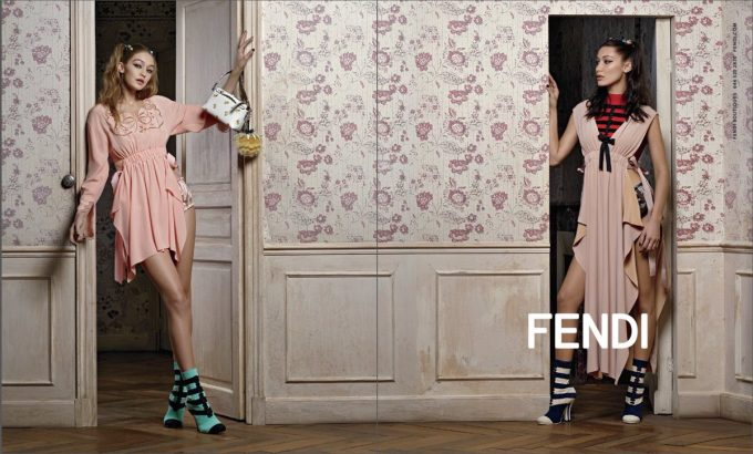 Bella & Gigi are the Fendi girls for Spring
