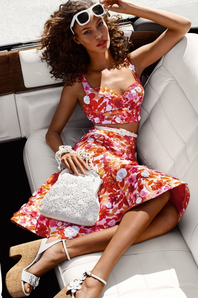 Joan Smalls drives Michael Kors' Spring collection
