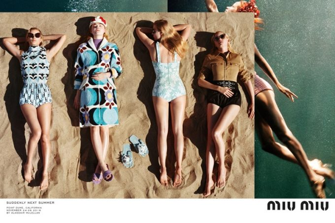 Suddenly next summer: Miu Miu hits the beach in retro styles