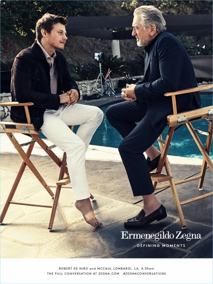 Zegna pairs De Niro with McCaul Lombardi for global campaign