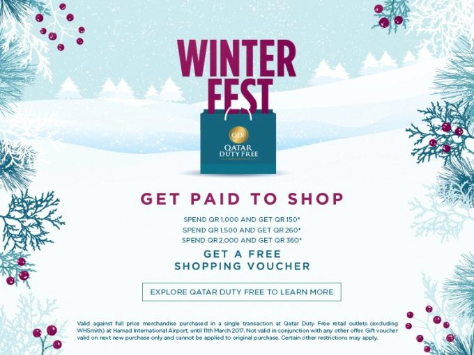 Qatar Duty Free Winter Fest pays travellers to shop