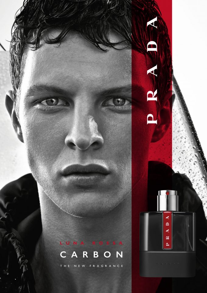 Prada debuts new Luna Rossa Carbon men's fragrance