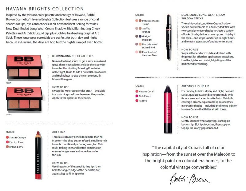 Bobbi Brown Unveils Havana Brights Collection Duty Free Hunter Illuminating Cheek Palette Limited Edition Available March 2017 At Cosmetics Counters In Travel Retail Locations Asia Pacific Europe The Middle East And Africa April