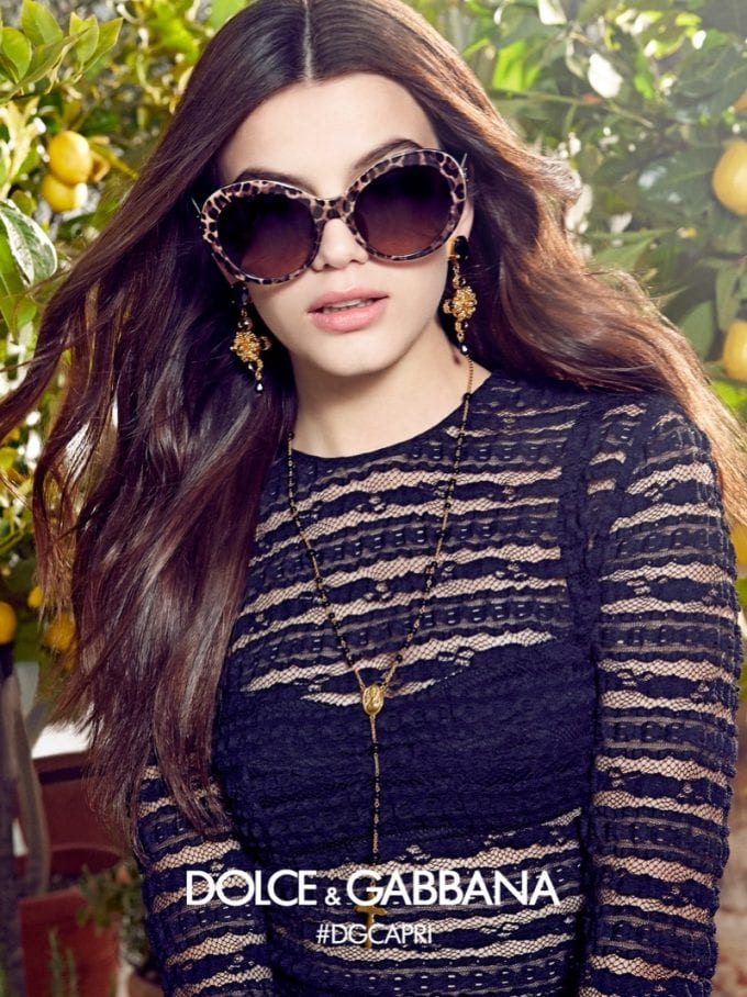 Dolce & Gabbana taps Sonia Ben Ammar for its Spring eyewear look