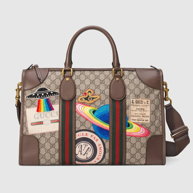 Below Is The Gucci Courrier Soft Gg Supreme Duffle Bag