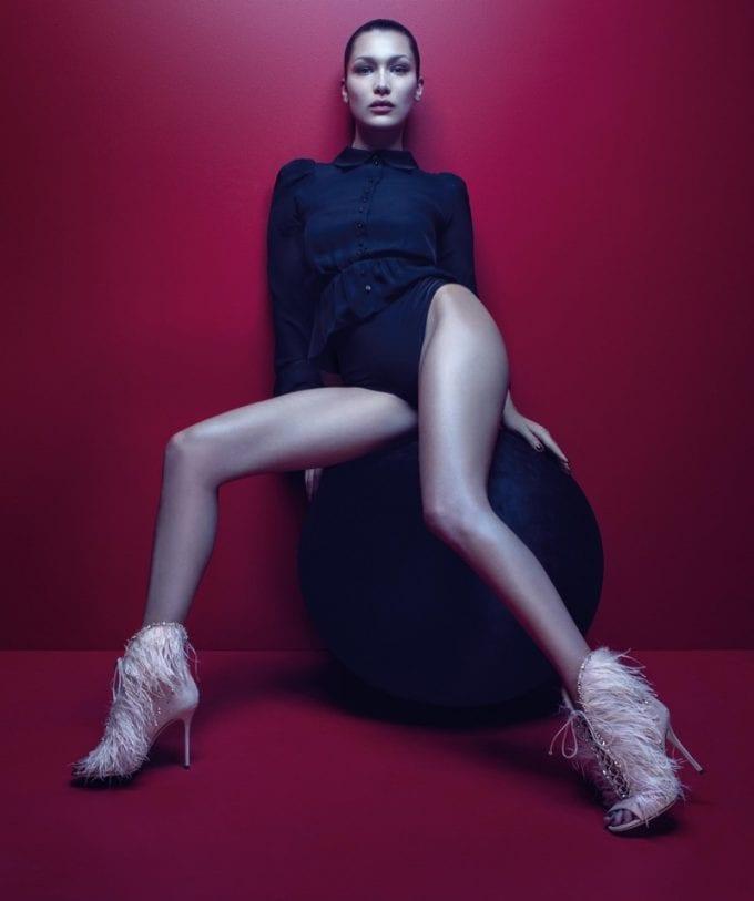 Bella Hadid stars in Giuseppe Zanotti campaign