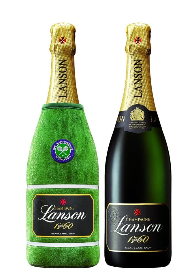 Champagne Lanson celebrates 40 Years at Wimbledon with airport special editions