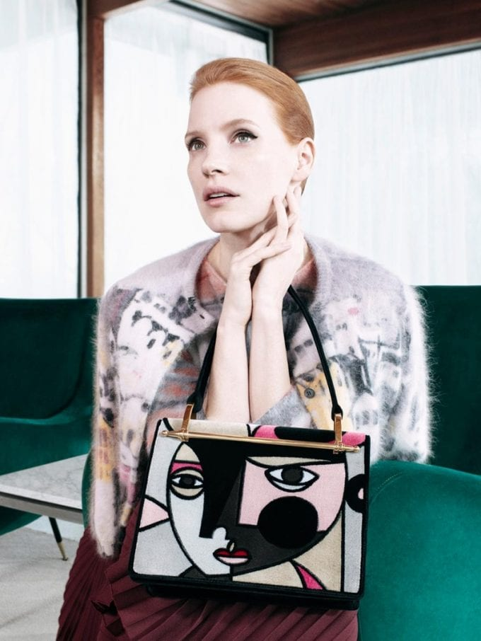 Jessica Chastain fronts Prada's new accessories campaign