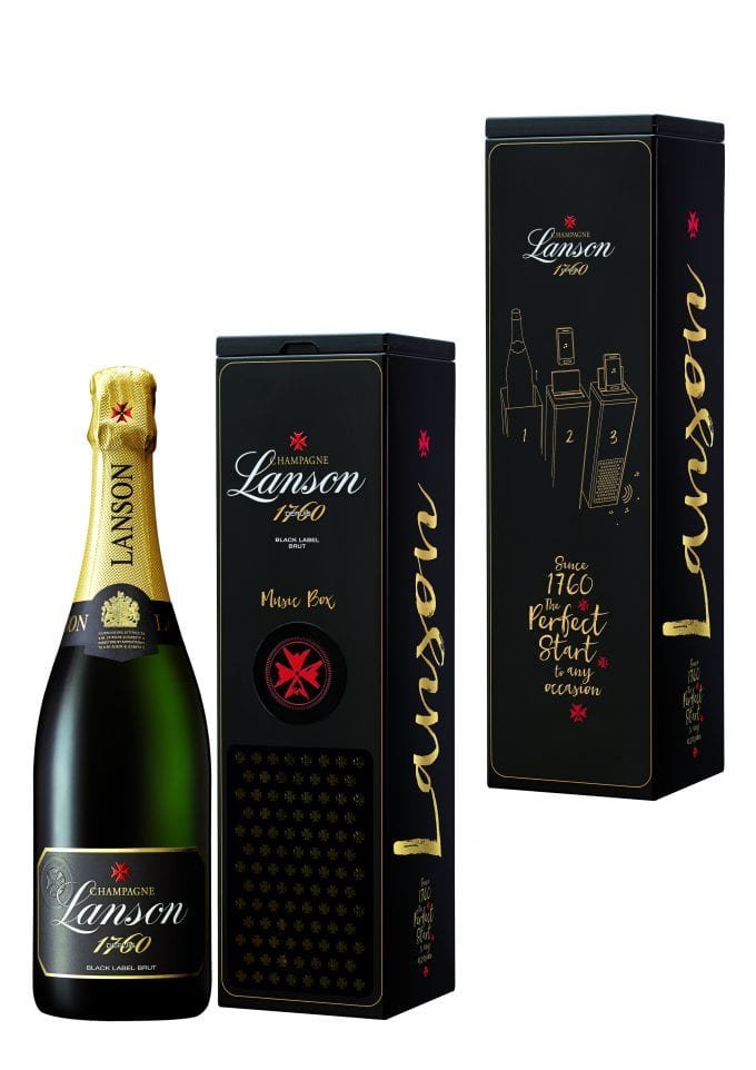 Champagne Lanson reveals duty-free exclusive 'Music box' editions