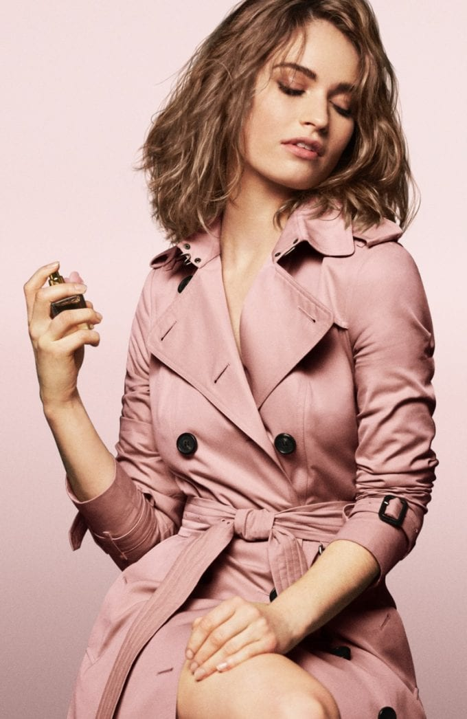 Burberry launches Fruity, Floral and Feminine Blush scent with Lily James