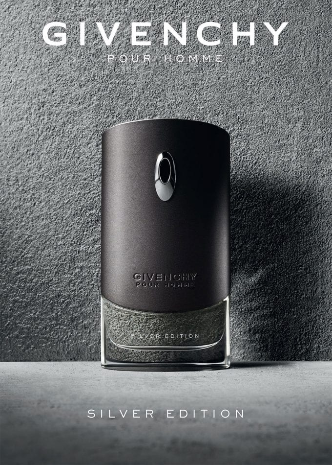 Givenchy takes Silver – new limited edition of its signature Pour Homme scent
