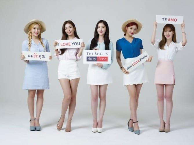 K-pop girl group Red Velvet signed by Shilla Duty Free