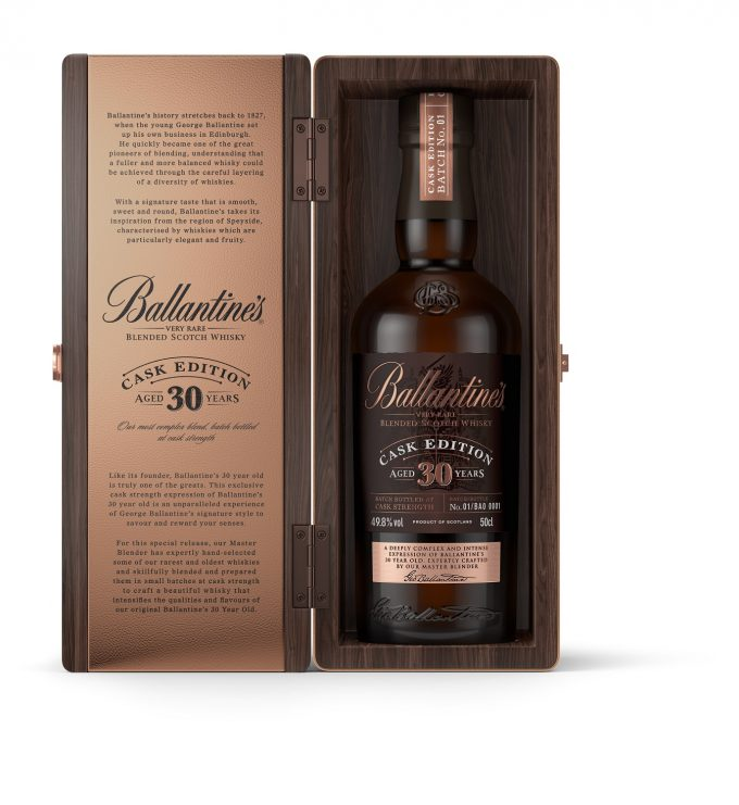 Ballantine's unveils 30 Year Old Cask Edition exclusive to Korean duty-free