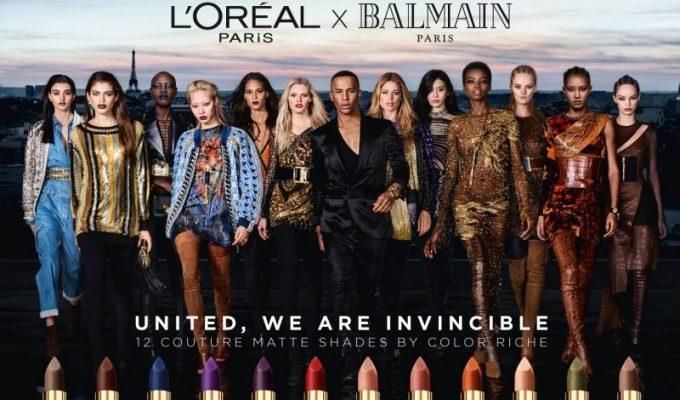L'Oréal Paris x Balmain lipsticks launch with tribes of top models