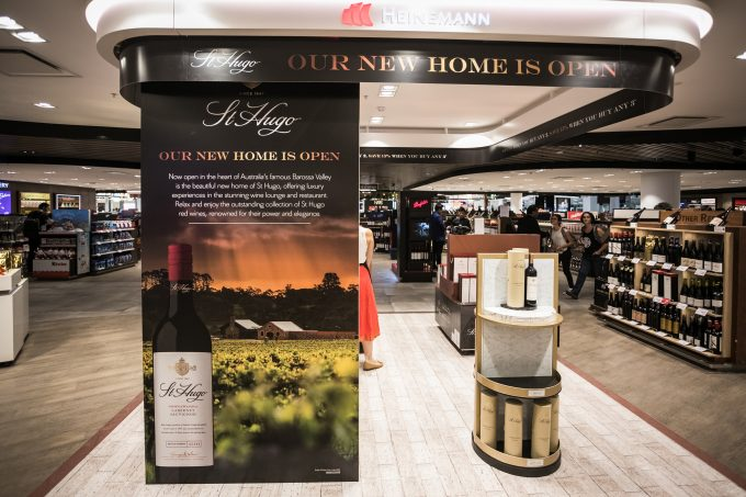 """Pernod Ricard Global Travel Retail celebrates St Hugo's new homein the Barossa Valley with Travel Retail exclusive """"cellar door""""experience at Sydney Airport"""