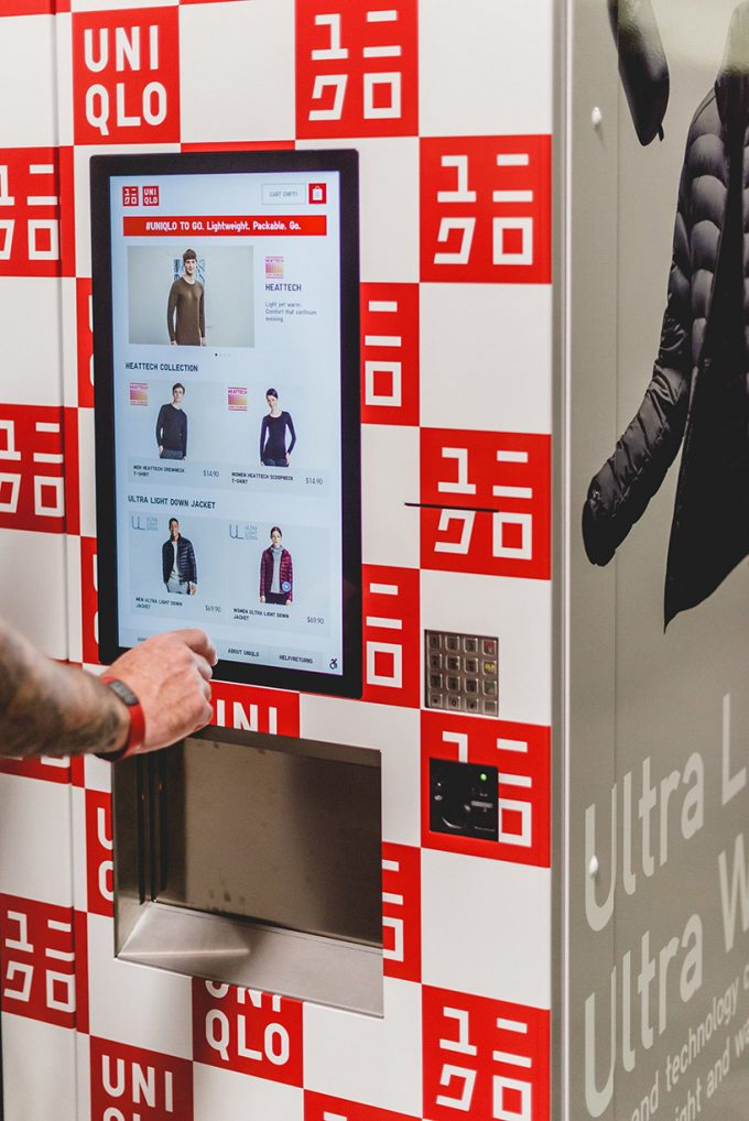Uniqlo installs vending machines for its clothes in airports