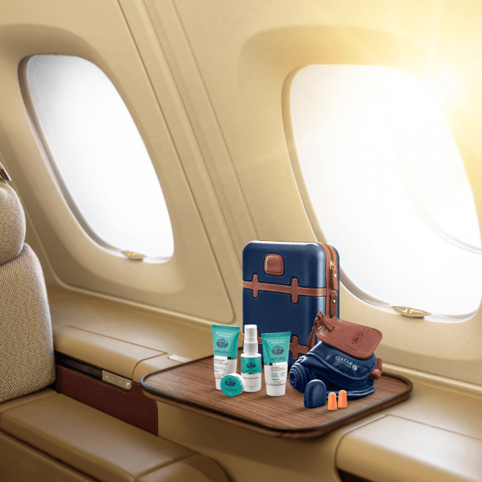 Qatar Airways treats premium flyers with Bric's luxury amenity kits