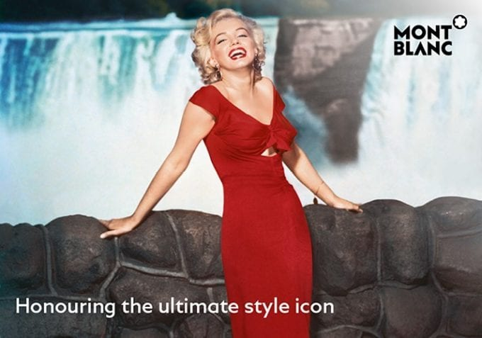 Montblanc honours Marilyn Monroe with new Ruby Red collection