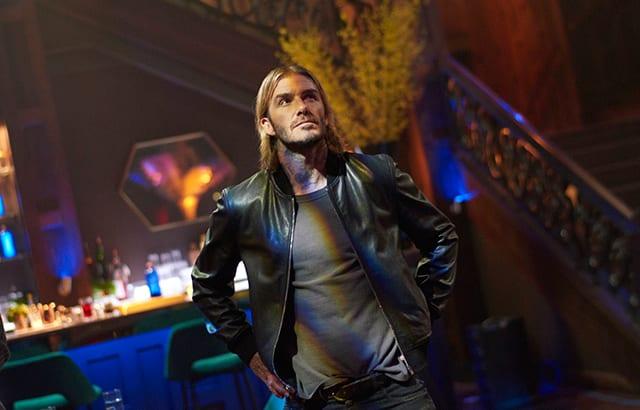 David Beckham leaves as he arrives in new Haig Club film
