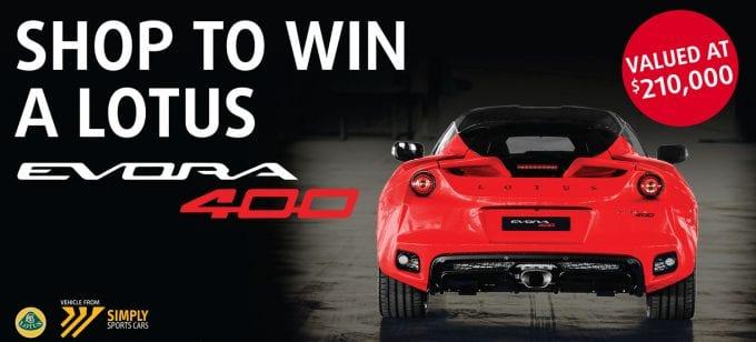 SHOP & WIN: Lotus Evora 400 to be won at Heinemann Duty Free at Sydney International Airport
