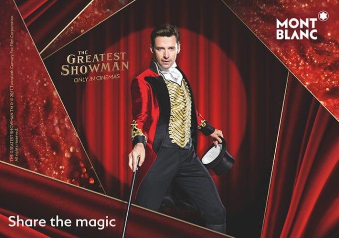 Hugh Jackman as The Greatest Showman unveils Montblanc's Christmas campaign