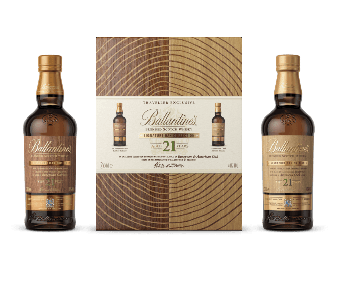 Ballantine's launches the ultimate 21 Year Old Signature Oak Collection, exclusive to Asia duty-free shops
