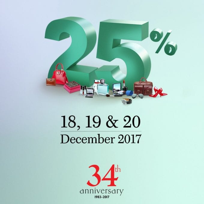 Worth flying for – The Dubai Duty Free 25% off Pre-Christmas Sale starts December 18
