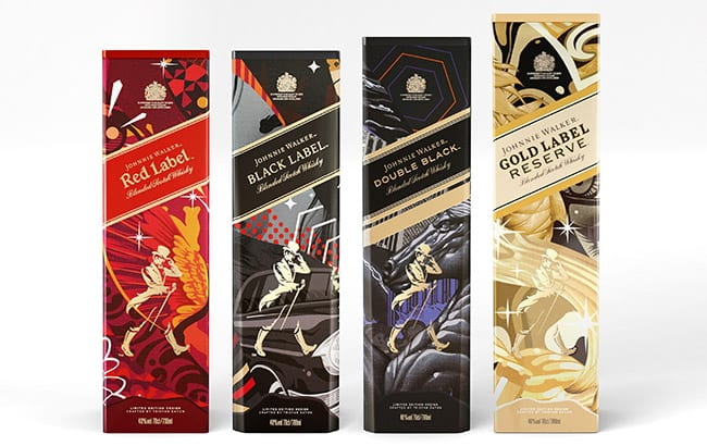 Johnnie Walker unveils street art series of its core whiskies