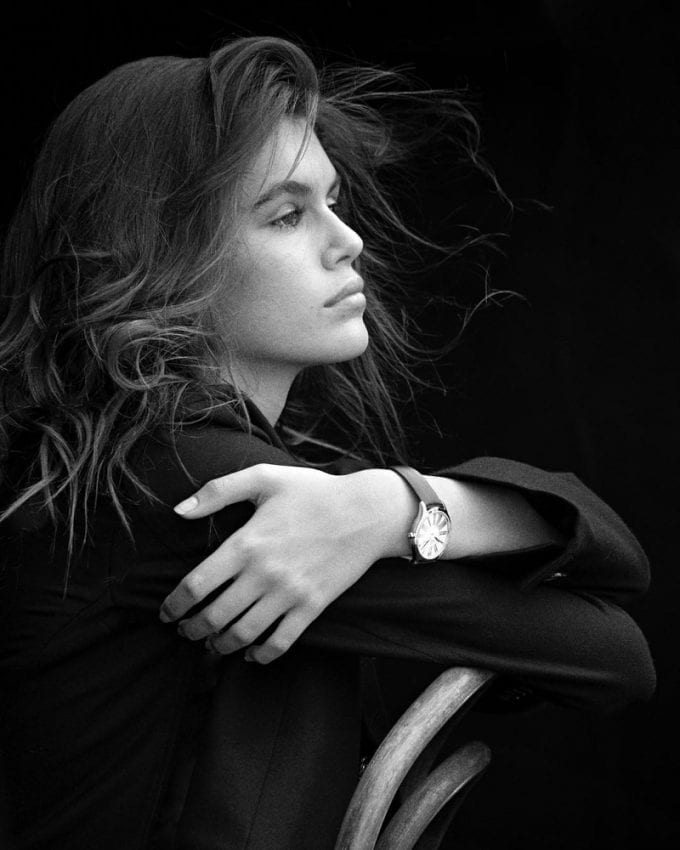 Kaia Gerber debuts as the face of the new OMEGA 'Trésor' watch collection