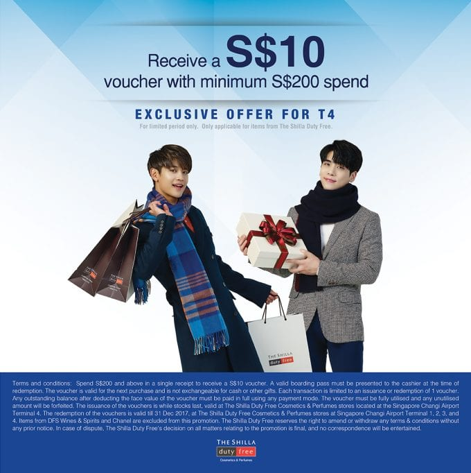 SAVE: Shilla Duty Free rewards travellers with Singapore Changi special deals