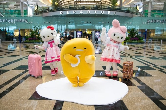 Hello Kitty and friends spend the holidays at Singapore Changi Airport