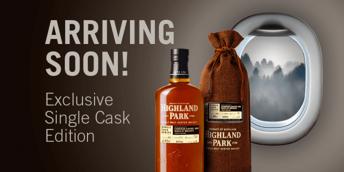 Highland Park whisky announces exclusive 14yo bottling for Edinburgh Airport – only 300 bottles available