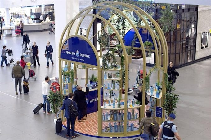 Bombay Sapphire brings The Glasshouse to the airport to thrill duty-free shoppers