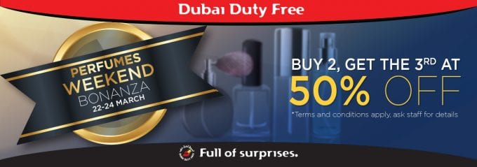Dubai Duty Free launches Perfume Weekend Bonanza sale today