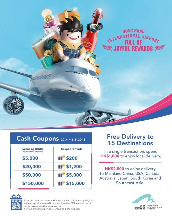 Hong Kong HKIA rewards Golden Week travellers with special promotions