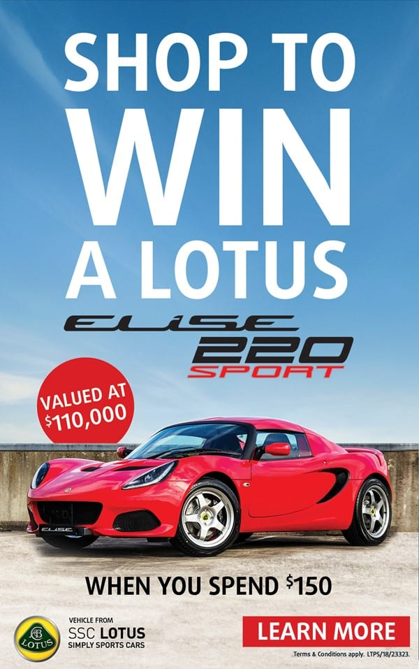 Win a Lotus Elise with HEINEMANN Tax & Duty Free at Sydney International Airport