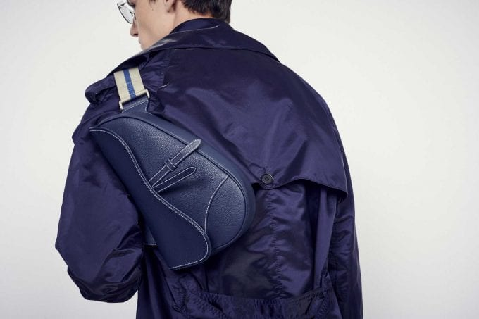 Worth Flying For… Dior unveils the first men's version of its iconic Saddle bag