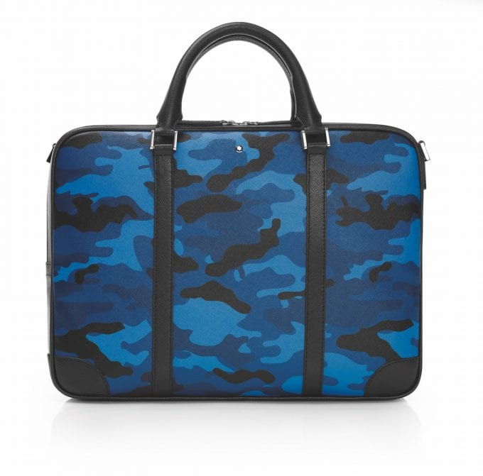"""Dressed for the urban jungle: Montblanc Sartorial Leather goes """"camouflage"""""""