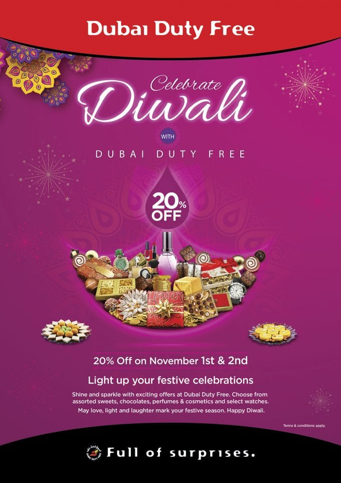 Dubai Duty Free lights up special 20% promotion for Diwali