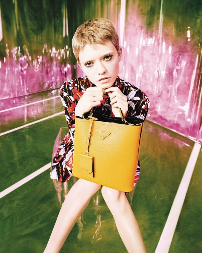 Prada dips in to the gloss with new Resort 2019 campaign