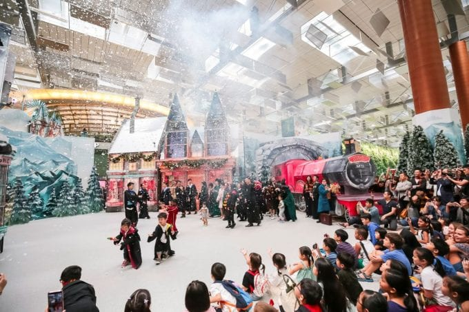 Singapore's Changi Airport has a whole Wizarding World waiting for festive travellers