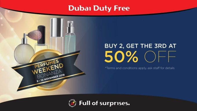 SAVE: Dubai Duty Free's Perfume Bonanza promotion is on this weekend