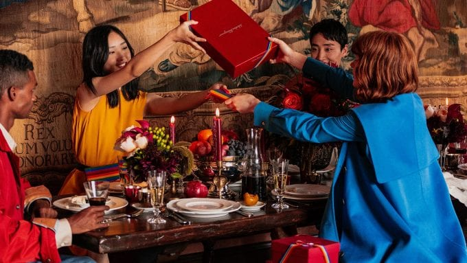 Salvatore Ferragamo's Patchwork of Characters show off Holiday collection